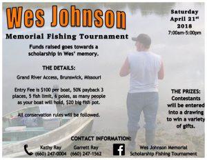 Wes Johnson Memorial Scholarship Fishing Tournament | Brunswick, MO